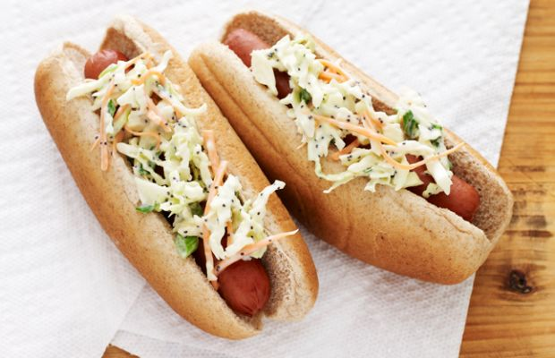Hot-Dog with Coleslaw