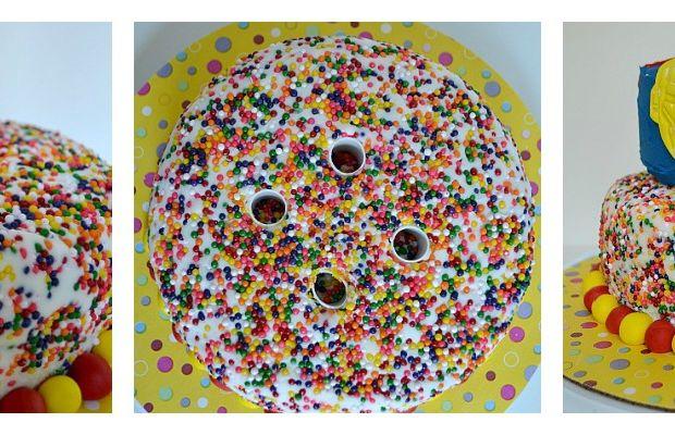 Superhero-Birthday-Dowels-In-Cake-Collage