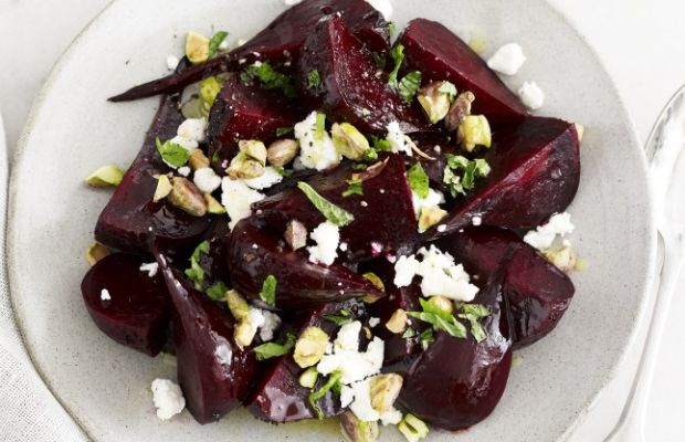 Roasted Beets with Honeyed Pistachios
