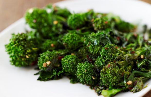 spiced broccoli rabe