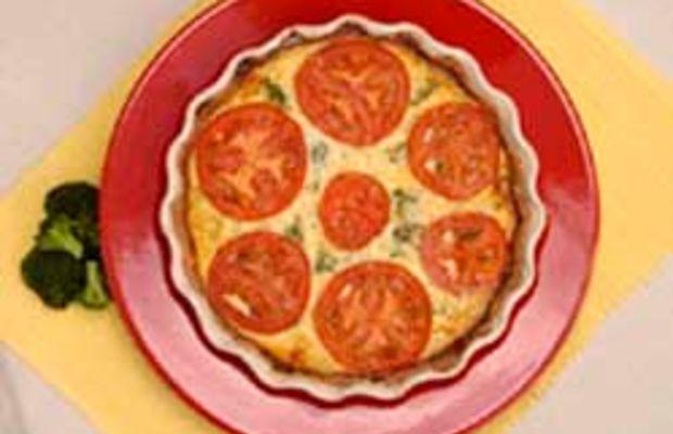 Broccoli Swiss Quiche with Whole Wheat Pie Crust