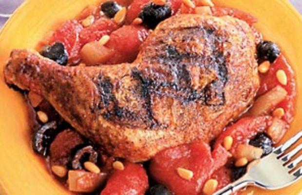 Catalan Grilled Chicken Leg Quarters