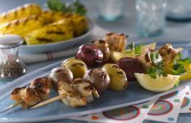 Idaho® Potato and Chicken Skewers