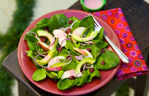 Asparagus, Avocado, and Apple Salad