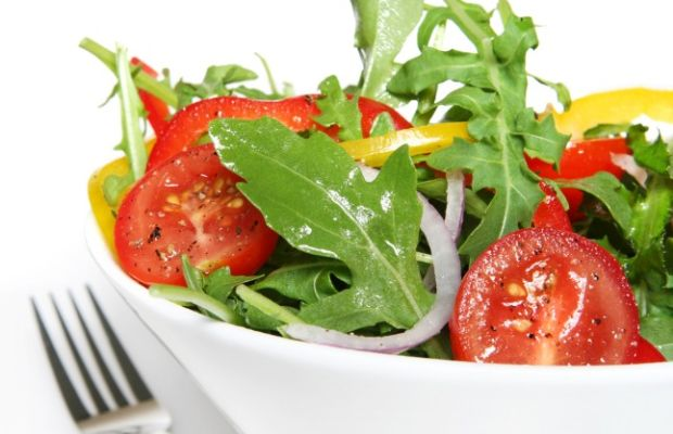 salad with honey lime vinaigrette