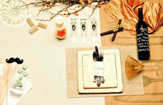 Purim Party Tablescape
