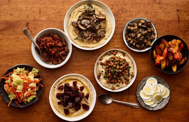 Hummus Party Shabbat Menu