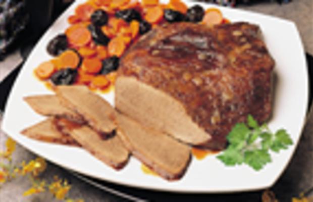 Beef Brisket With Savory Carrots & Prunes