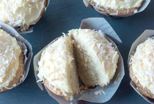 Brazilian coconut truffle cupcake