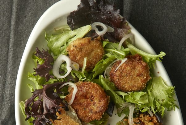 goat cheese croutons