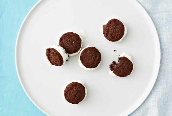Mini Chocolate Coconut Sandwiches