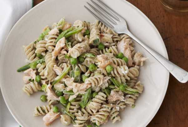 Salmon and Pea Rotini