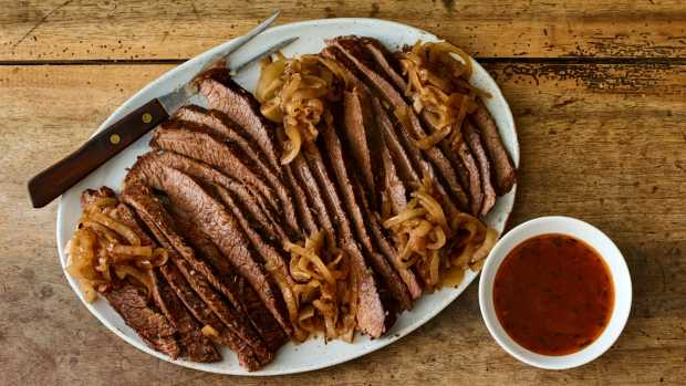 Brisket and onions