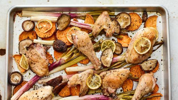 sheet pan roasted chicken