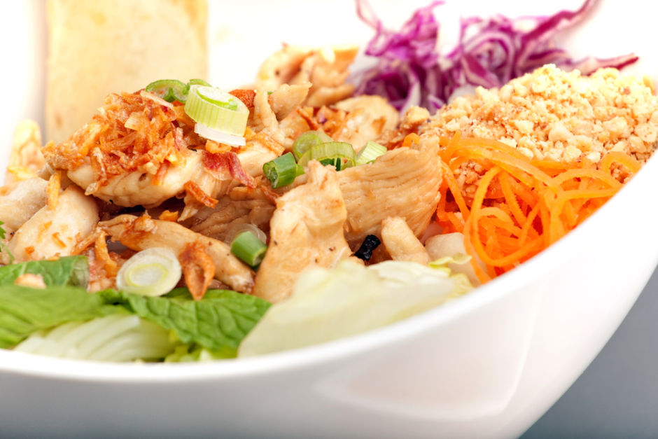 Chicken Salad With Ginger Peanut Dressing - Joy of Kosher