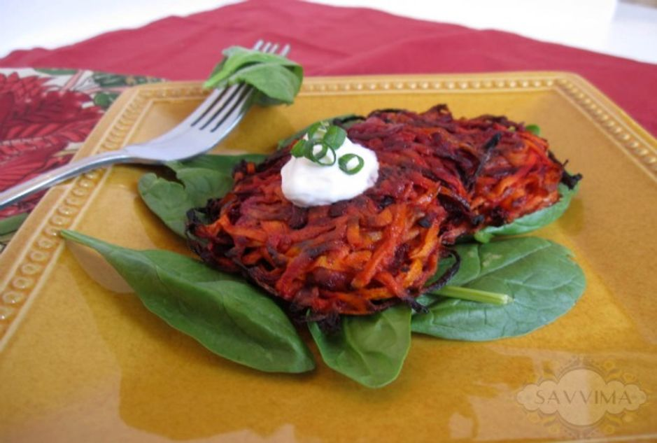 Beet and Carrot Latkes - Joy of Kosher