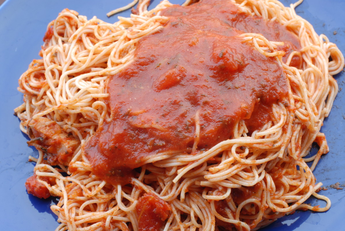 roast chicken with curried pumpkin pasta