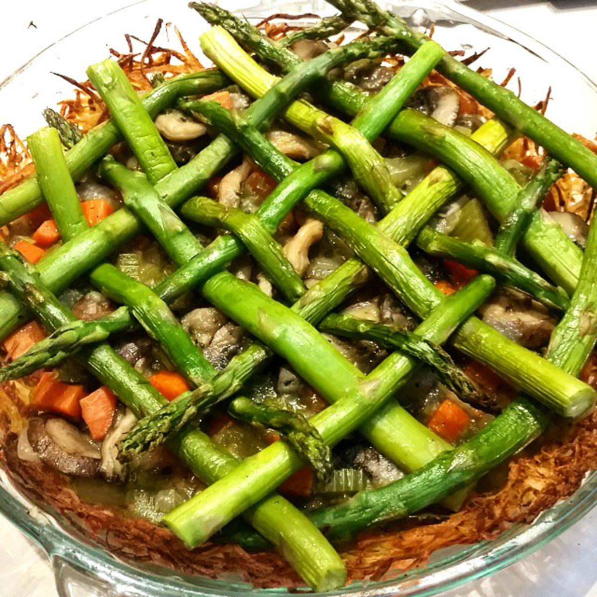 Vegetable Pot Pie with Latke Crust