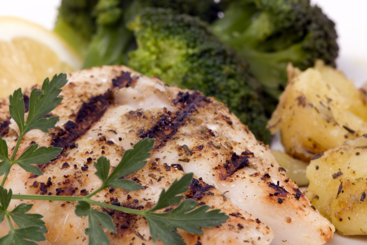 grilled lemon basil snapper fillets