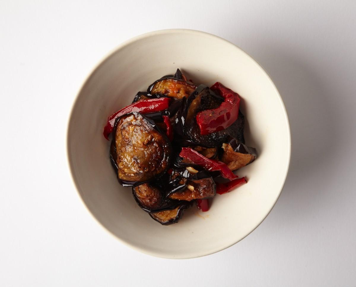 fried eggplant salad