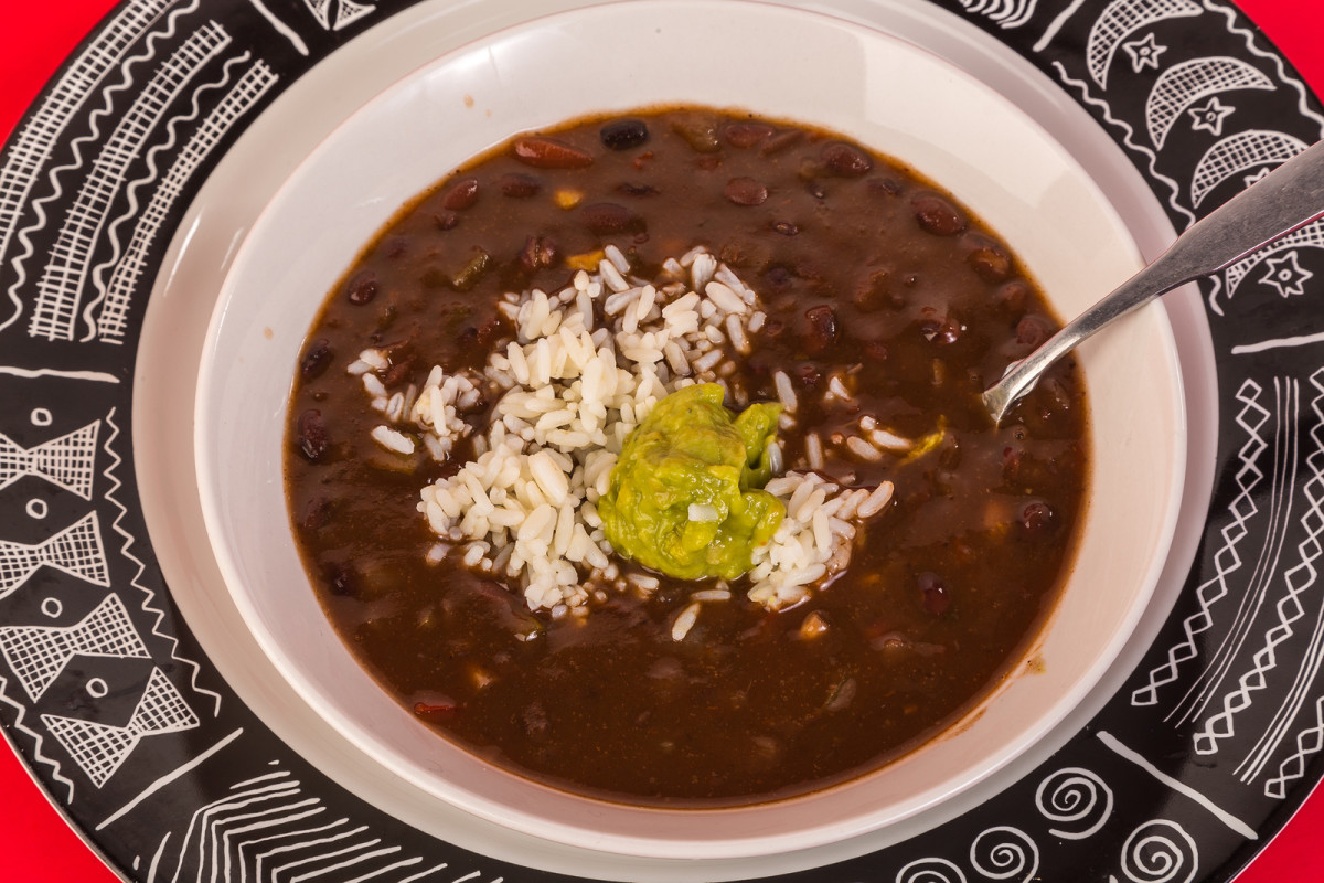 Cheese and black bean soup