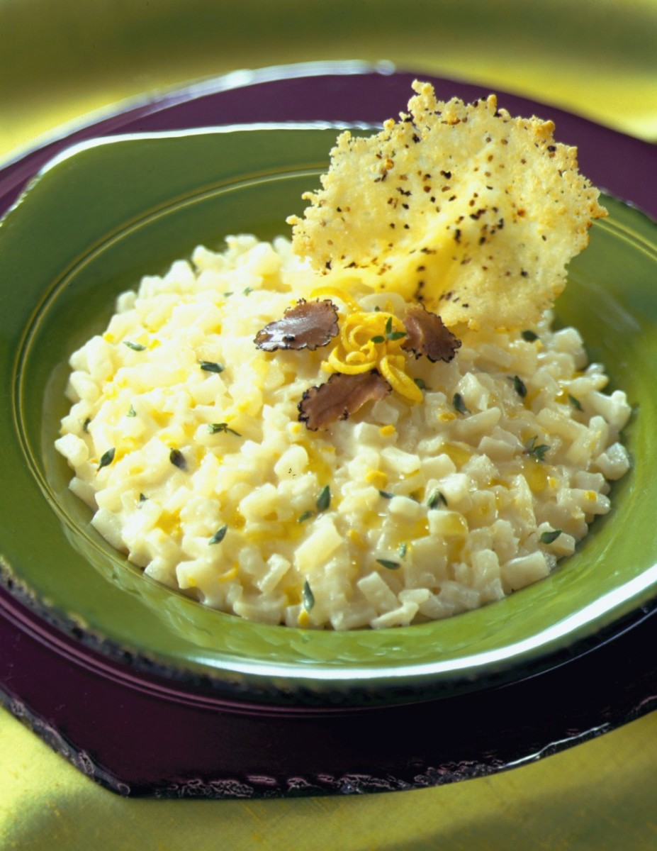idaho potato risotto with black truffles