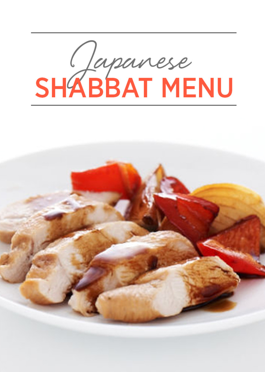 Japanese Shabbat Menu