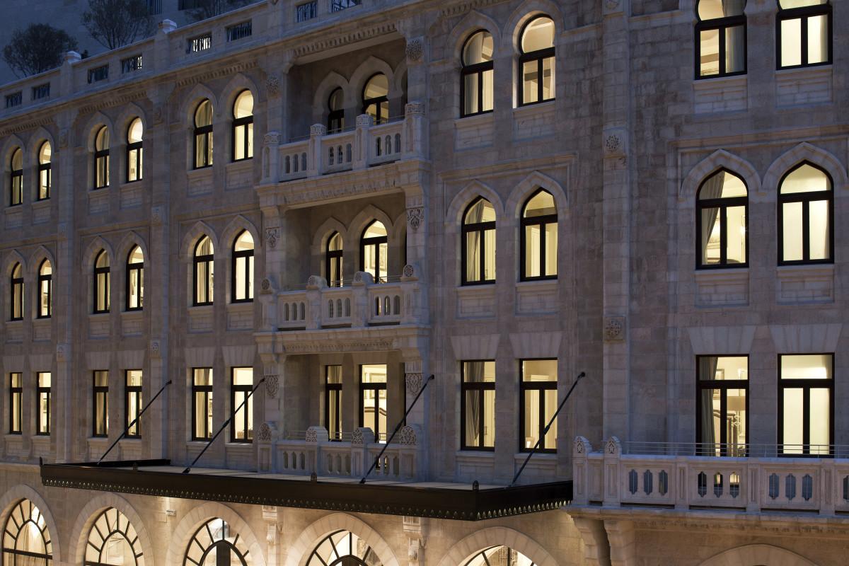 The Preserved Façade of the Waldorf Astoria Jerusalem