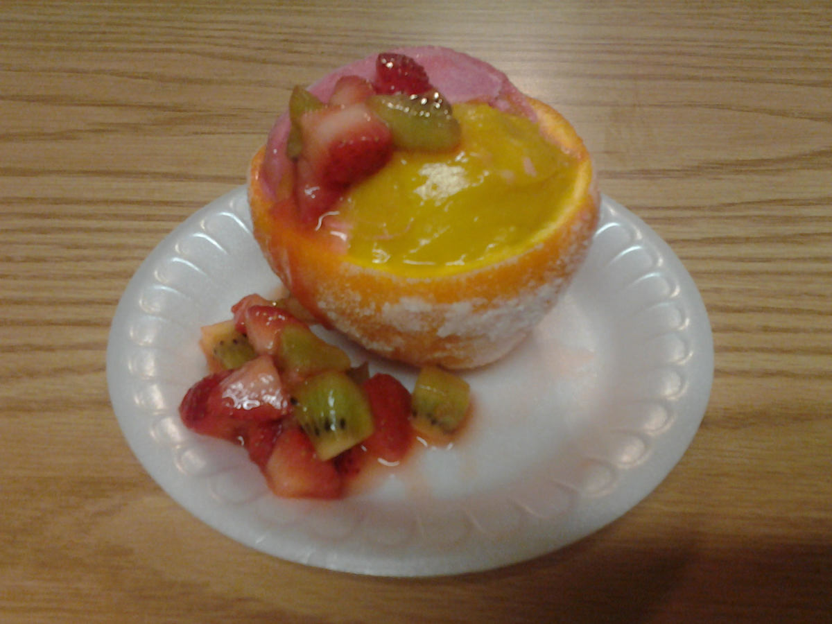 Sorbet Cups with Strawberry Kiwi Salsa