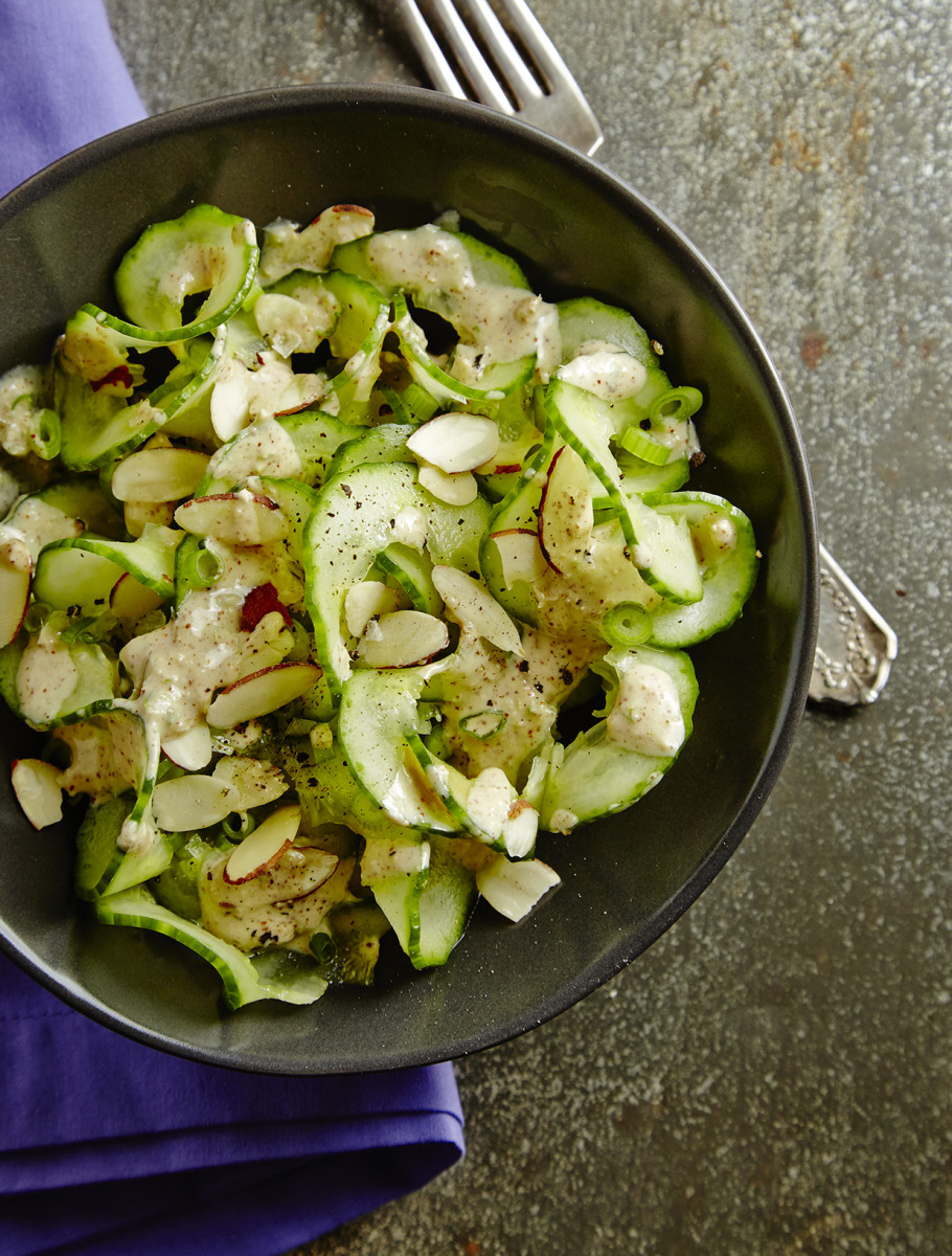 Cucumber Salad with Almond Butter Dressing Pg. 43
