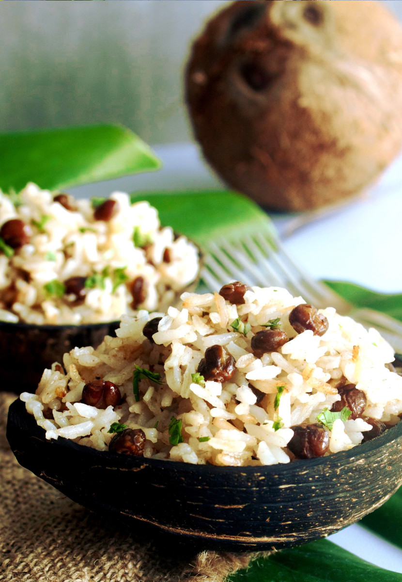 Arroz con Guandú y Coco (Rice with Pigeon Peas and Coconut Milk)