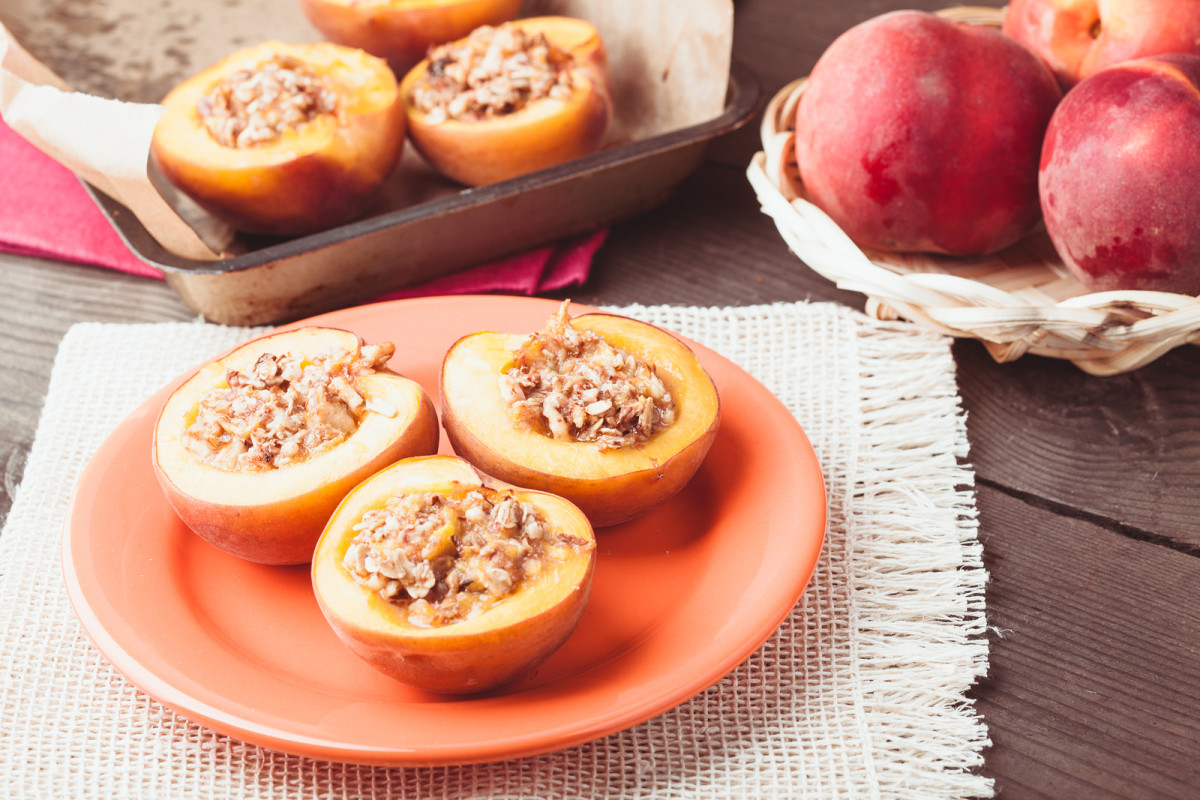almond peaches