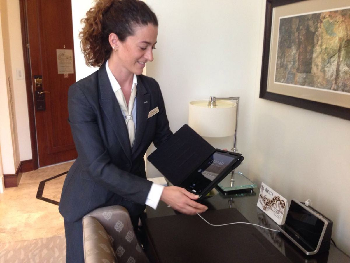 iPad for guests at Waldorf Asoria