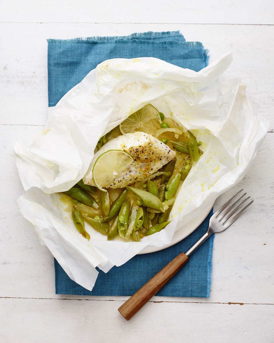 Curried Fish In Parchment - Get This Recipe On The 28 Day JOY of KOSHER Challenge