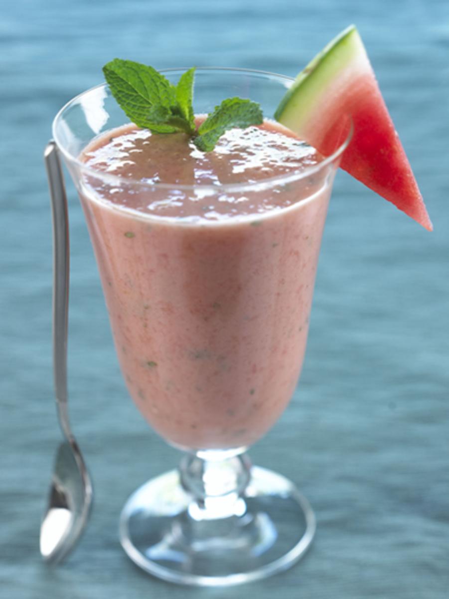watermelon yogurt mint smoothie