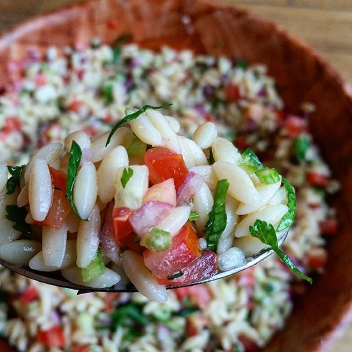 Israeli Orzo Salad