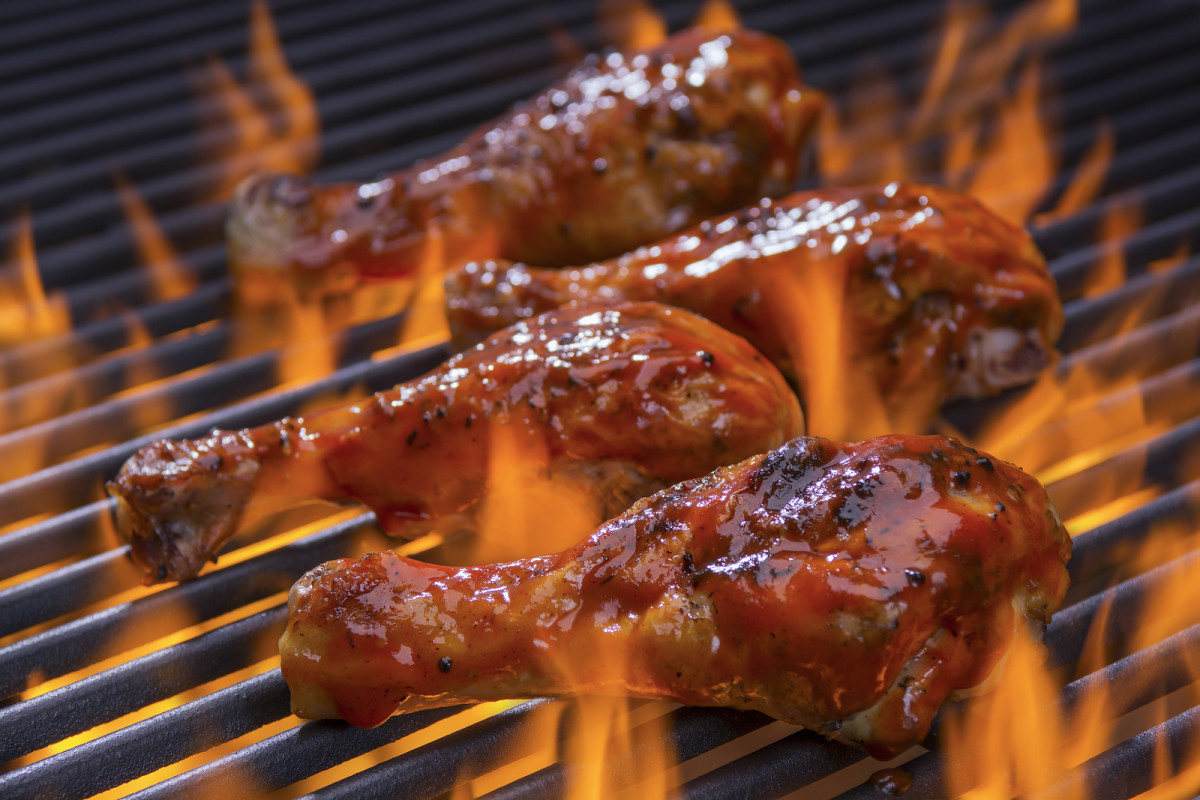 Apple Brown Sugar Barbecued Chicken
