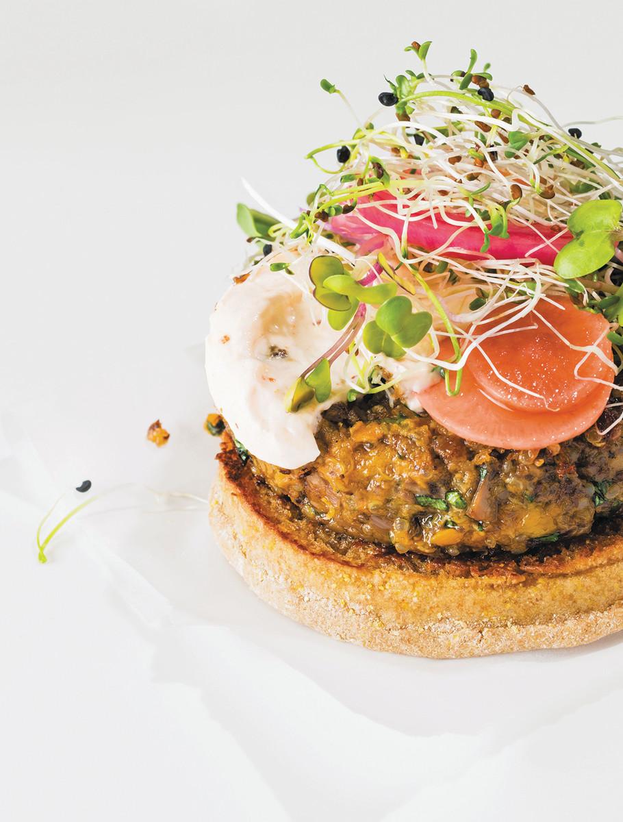 Quinoa, Sweet Potato, and Walnut Veggie Burgers