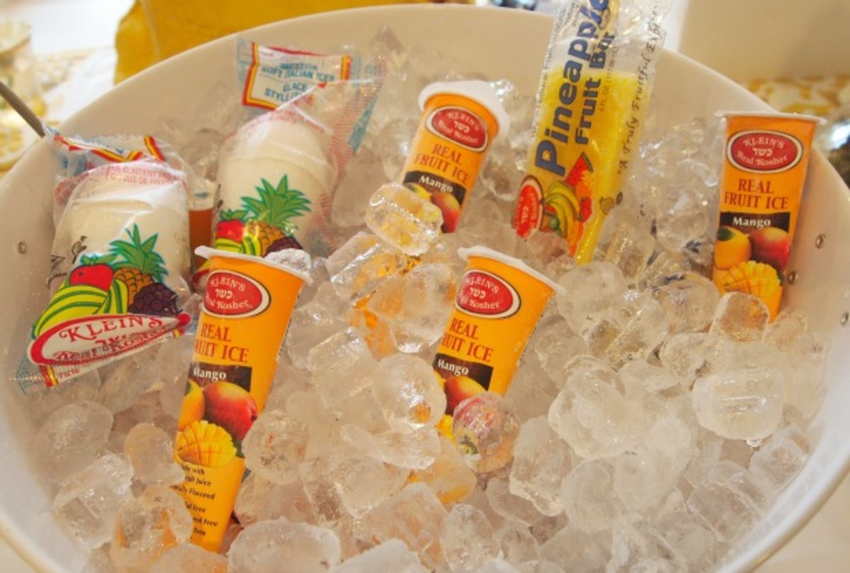 Frozen Ices at Jamie's Goodbye BBQ
