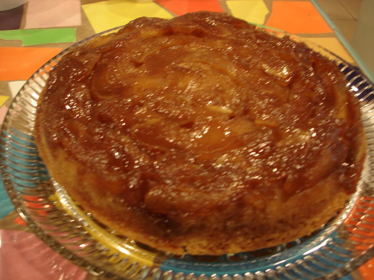 Caramel Apple Upside Down Cake Jamie Geller