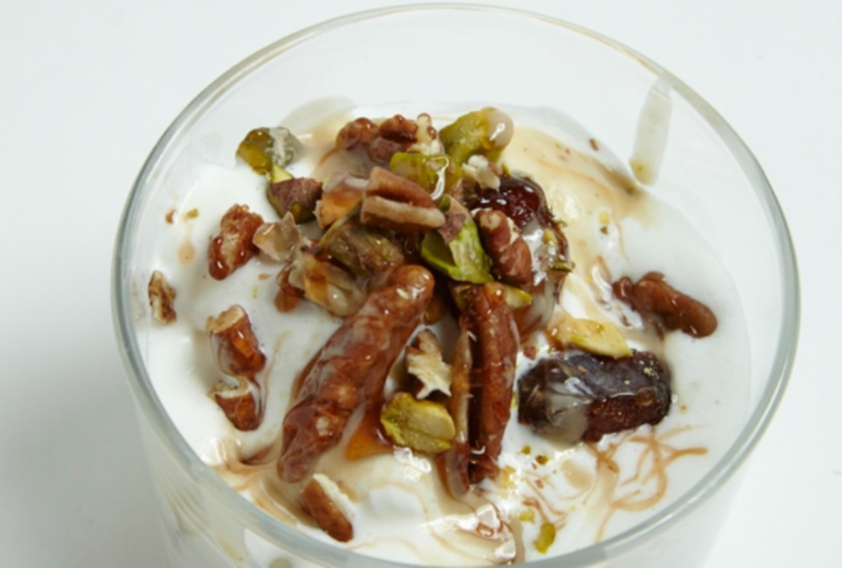 Halva-Inspired Frozen Yogurt