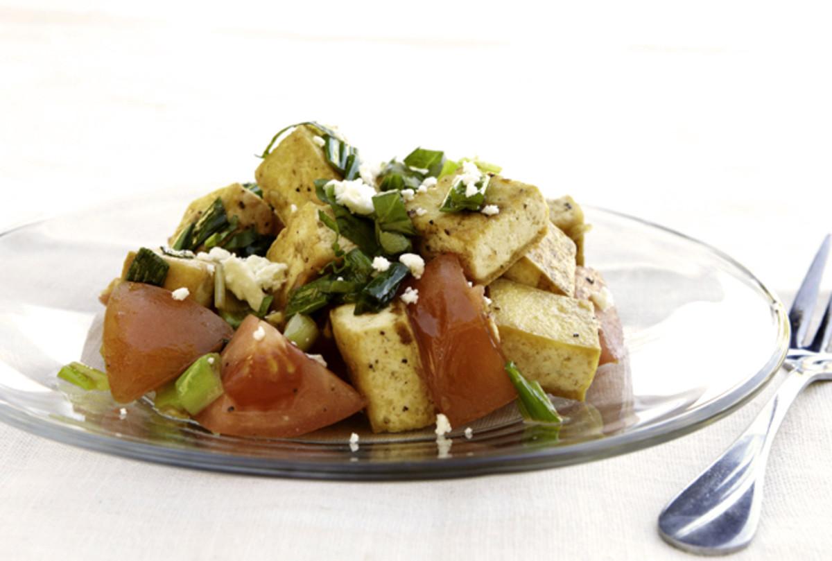 Tofu Tomato Salad