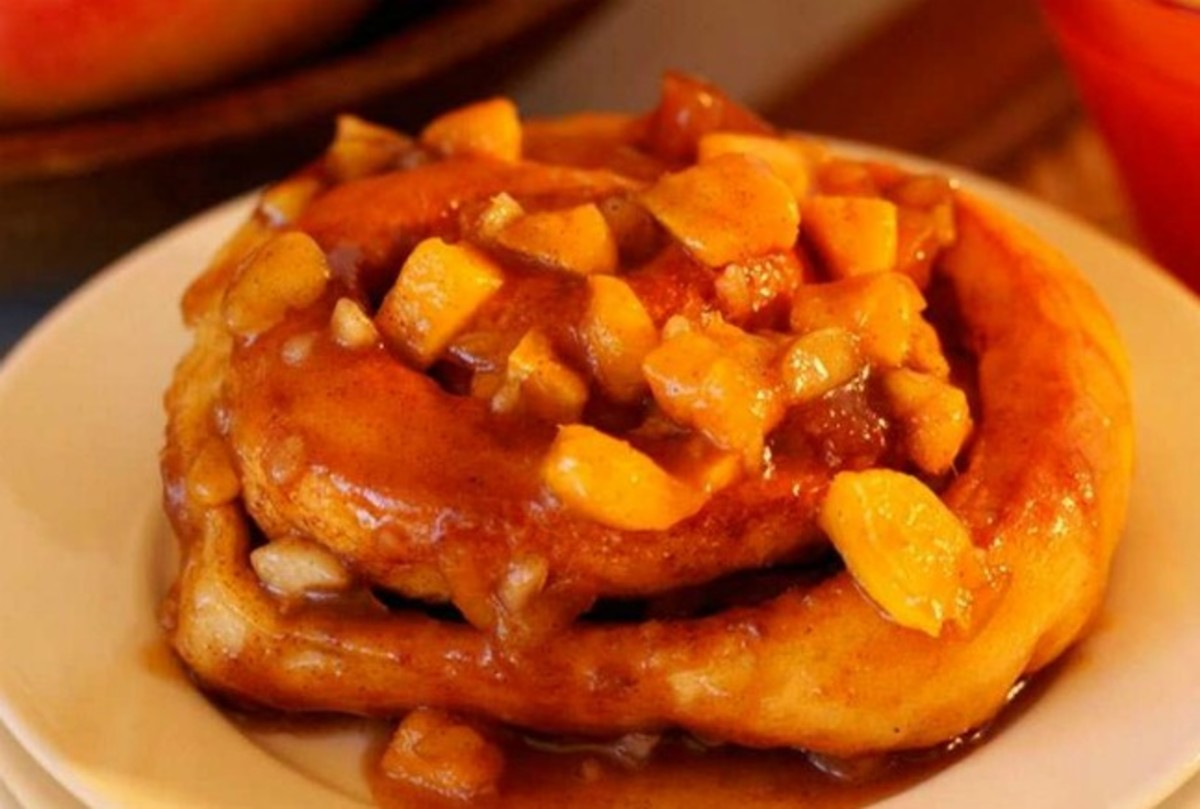 Mango Macadamia Caramel Rolls