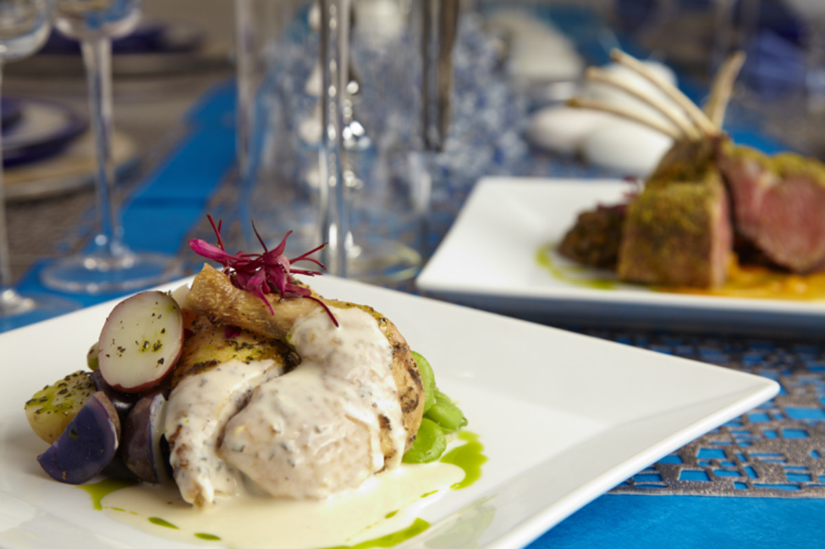 cornish hen with veloute sauce
