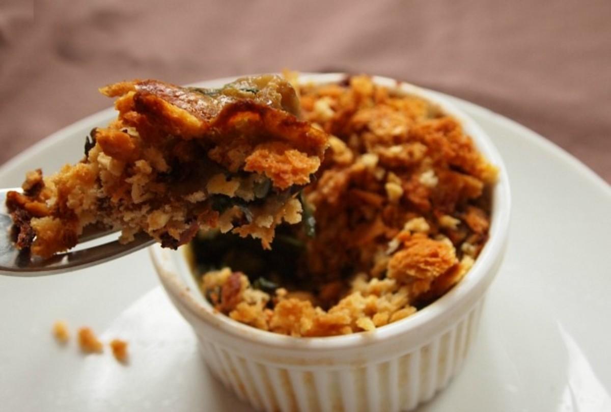 non dairy beet green casserole
