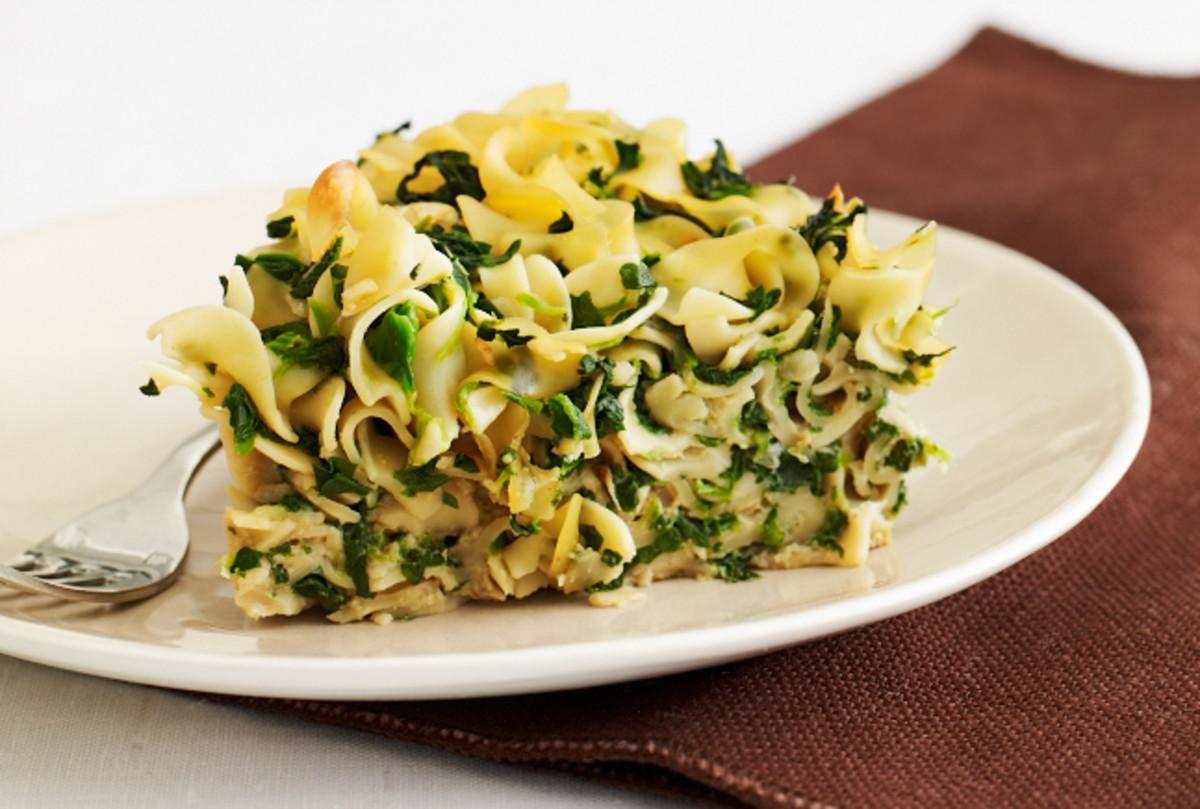 Spinach Noodle Kugel