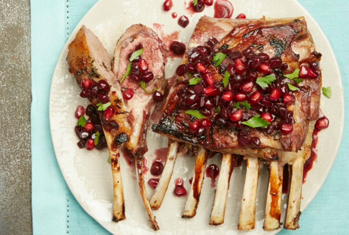 Slow-Roasted-Lamb-With-Pomegranate-and-Reduced-