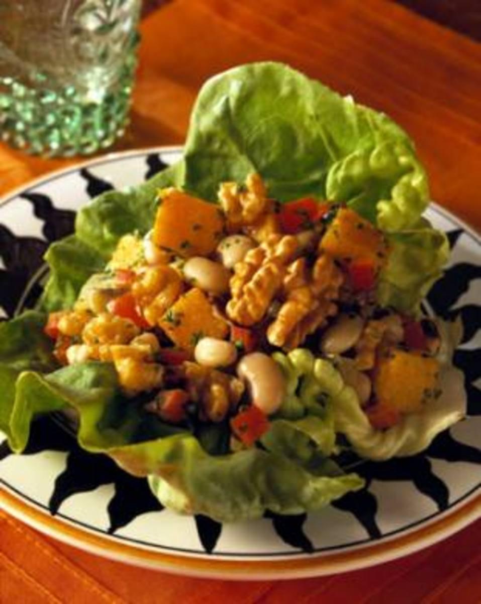 Black-Eyed Peas & Walnut Lettuce Wraps - Joy of Kosher