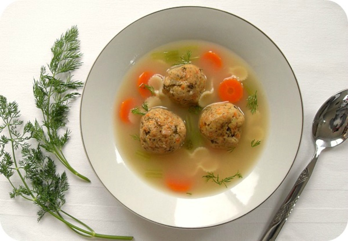 Carrot Dill Matzo Ball Soup