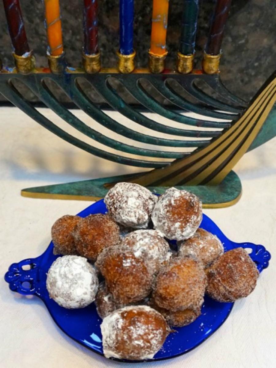 lemon doughnuts for chanukah